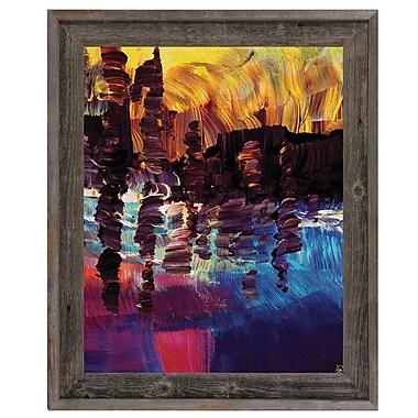 Click Wall Art 'Lin Lin' Framed Painting Print; 17.5'' H x 14.5'' W x 1'' D