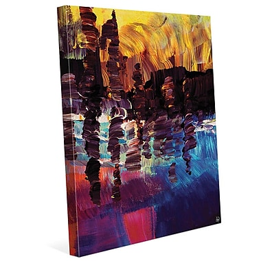 Click Wall Art 'Lin Lin' Painting Print on Wrapped Canvas; 14'' H x 11'' W x 1.5'' D