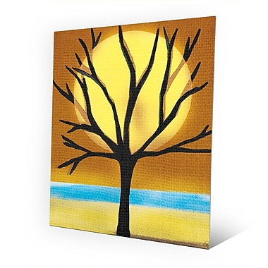 Click Wall Art 'Tree and the Sun' Graphic Art on Metal; 20'' H x 16'' W x 0.04'' D