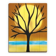 Click Wall Art 'Tree and the Sun' Graphic Art on Wood; 12'' H x 9'' W x 1'' D