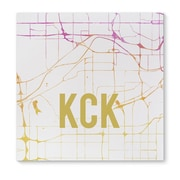 Kavka KCK Pink Sunset Front Graphic Art on Wrapped Canvas