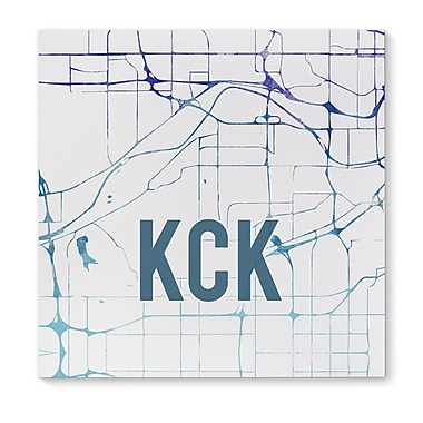 Kavka KCK Purple Sunset Front Graphic Art on Wrapped Canvas