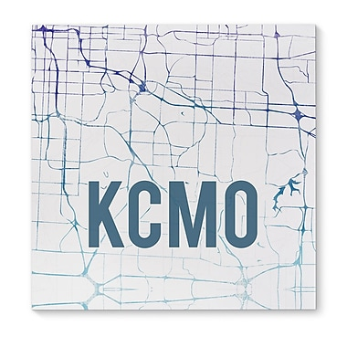 Kavka Kcmo Purple Sunset Front Graphic Art on Wrapped Canvas