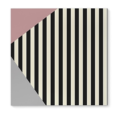 Kavka Layered Stripe Rose Graphic Art on Wrapped Canvas