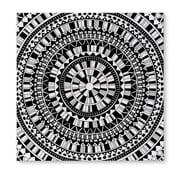 Kavka Mandala Black Graphic Art on Wrapped Canvas