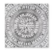 Kavka Mandala Gray Graphic Art on Wrapped Canvas