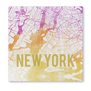 Kavka New York Sunset Front Graphic Art on Wrapped Canvas