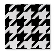 Kavka Houndstooth Black Graphic Art on Wrapped Canvas