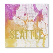 Kavka Seattle Sunset Front Graphic Art on Wrapped Canvas
