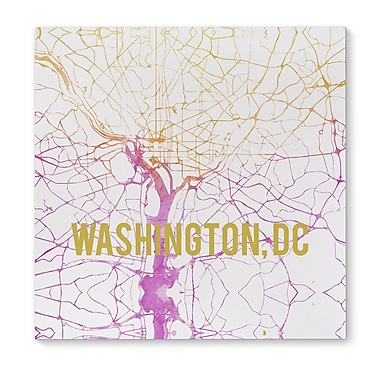 Kavka Wash Dc Sunset Front Graphic Art on Wrapped Canvas