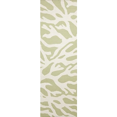 Somerset Bay Boardwalk Lime & White Area Rug; 3'3'' x 5'3''
