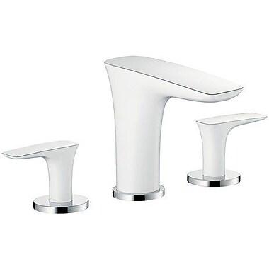 Hansgrohe PuraVida Widespread Bathroom Faucet; Chrome/White