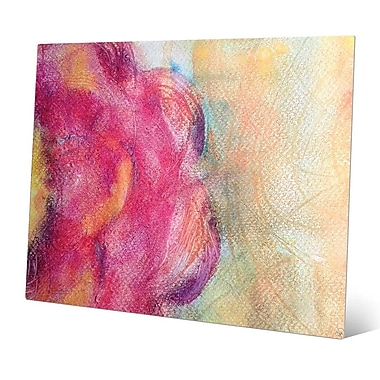 Click Wall Art 'Peonia' Painting Print on Metal; 8'' H x 10'' W x 0.04'' D