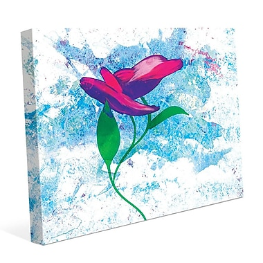 Click Wall Art 'Magenta Bloom' Painting Print on Wrapped Canvas; 11'' H x 14'' W x 1.5'' D