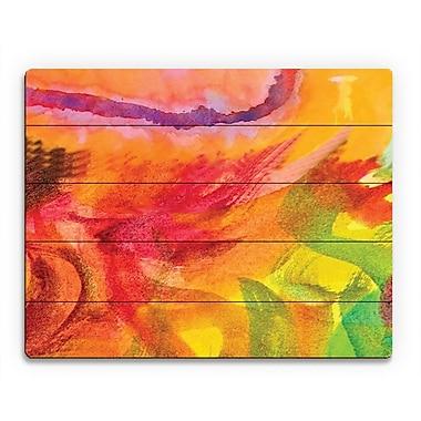 Click Wall Art 'Lumaca' Painting Print on Wood; 20'' H x 24'' W x 1'' D