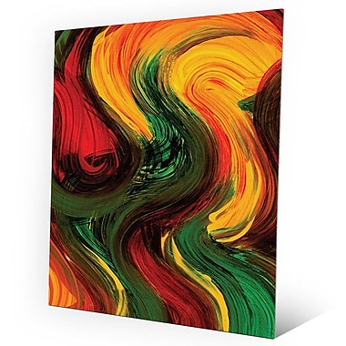 Click Wall Art 'Soft as the Wind' Painting Print on Metal; 30'' H x 20'' W x 0.04'' D