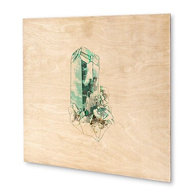 Kavka Mineral Dioptase Graphic Art on Wood