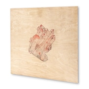 Kavka Mineral Rose Quartz Graphic Art on Wood