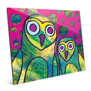 Click Wall Art 'Wild Colorful Owls Gamma' Painting Print; 20'' H x 24'' W x 1'' D