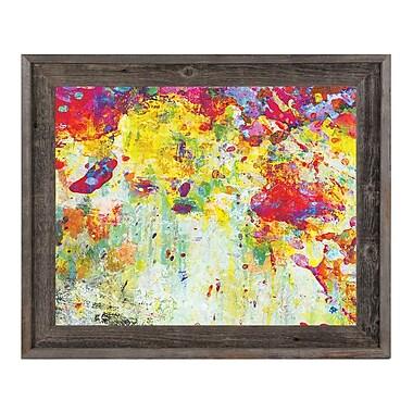 Click Wall Art 'Splatter Shop Citrine' Framed Painting Print; 23.5'' H x 27.5'' W x 1'' D