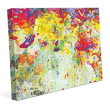 Click Wall Art 'Splatter Shop Citrine' Painting Print on Wrapped Canvas; 11'' H x 14'' W x 1.5'' D