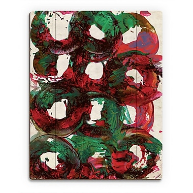Click Wall Art 'Universe' Painting Print on Wood; 24'' H x 20'' W x 1'' D