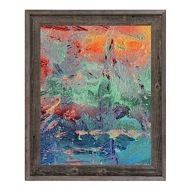 Click Wall Art 'Burning Skies' Framed Painting Print; 17.5'' H x 14.5'' W x 1'' D