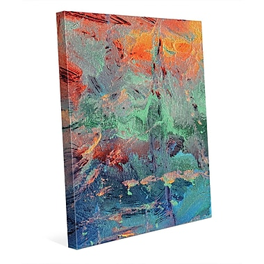 Click Wall Art 'Burning Skies' Painting Print on Wrapped Canvas; 10'' H x 8'' W x 0.75'' D