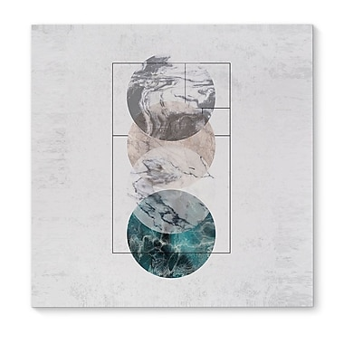 Kavka 4 Worlds Framed Graphic Art Print on Wrapped Canvas