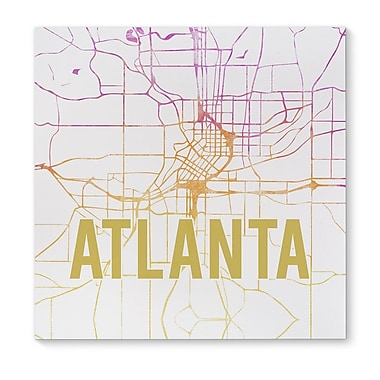 Kavka Atlanta Pink Sunset Front Graphic Art on Wrapped Canvas