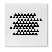 Kavka Black and White Triangels Graphic Art on Wrapped Canvas