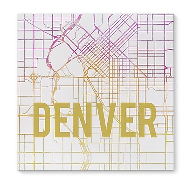 Kavka Denver Pink Sunset Front Graphic Art on Wrapped Canvas