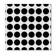Kavka Fat Dot Black Graphic Art on Wrapped Canvas