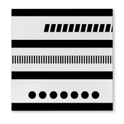 Kavka Geotribal Black Graphic Art on Wrapped Canvas