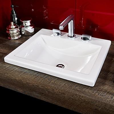 American Standard Studio Self Rimming Bathroom Sink 8''