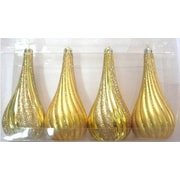Queens of Christmas Tear Drop Ornament (Set of 4); Gold