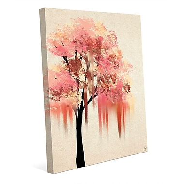 Click Wall Art 'Melting Peach Tree' Painting Print on Wrapped Canvas; 20'' H x 16'' W x 1.5'' D