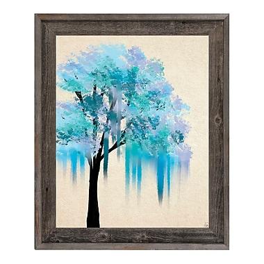 Click Wall Art 'Melting Blue Tree' Framed Painting Print; 17.5'' H x 14.5'' W x 1'' D