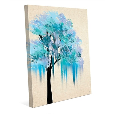 Click Wall Art 'Melting Blue Tree' Painting Print on Wrapped Canvas; 40'' H x 30'' W x 1.5'' D