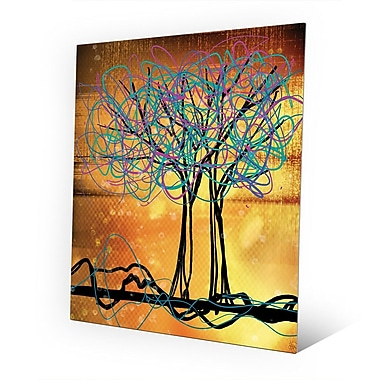 Click Wall Art 'Scribbled Trees V' Graphic Art on Metal; 10'' H x 8'' W x 0.04'' D