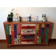 Loon Peak Barnes Teak Wood Sideboard