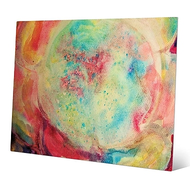Click Wall Art 'Microcosmo' Painting Print on Metal; 11'' H x 14'' W x 0.04'' D