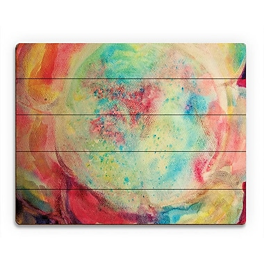 Click Wall Art 'Microcosmo' Painting Print on Wood; 20'' H x 24'' W x 1'' D