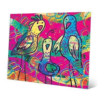 Click Wall Art 'Wild Birds Kappa' Painting Print on Metal; 16'' H x 20'' W x 0.04'' D