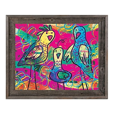 Click Wall Art 'Wild Birds Kappa' Framed Painting Print; 19.5'' H x 23.5'' W x 1'' D