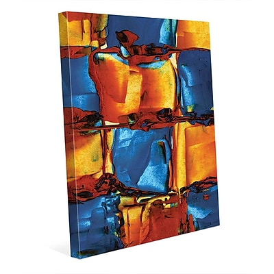 Click Wall Art 'Juju' Painting Print on Wrapped Canvas; 14'' H x 11'' W x 1.5'' D