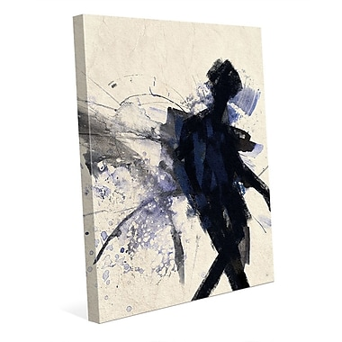 Click Wall Art 'Shadow Figure Indigo' Painting Print on Wrapped Canvas; 24'' H x 20'' W x 1.5'' D
