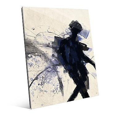 Click Wall Art 'Shadow Figure Indigo' Painting Print; 24'' H x 20'' W x 1'' D