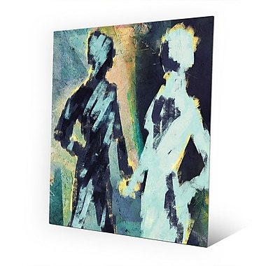 Click Wall Art 'Couple Figures Negative' Painting Print on Metal; 14'' H x 11'' W x 0.04'' D