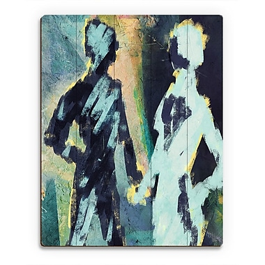 Click Wall Art 'Couple Figures Negative' Painting Print on Wood; 20'' H x 16'' W x 1'' D